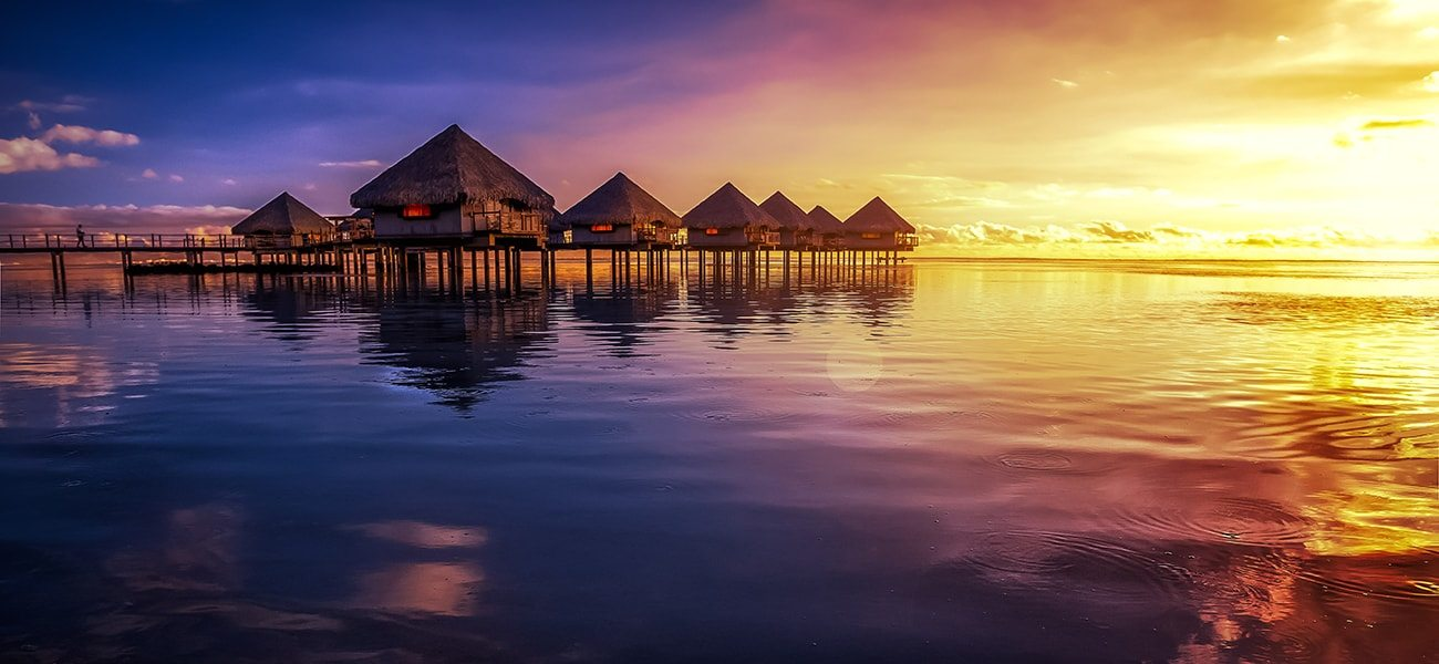 Tahiti, Sunset, South Pacific